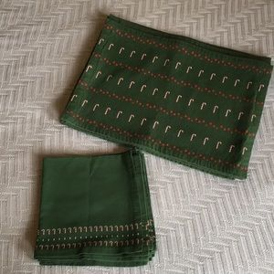 Christmas/Holiday placemat and napkin set